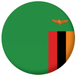Zambia Country Flag 58mm Keyring